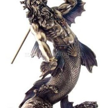 Poseidon Neptune Greek God of the Sea Statue - T1718