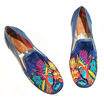 Mexican Embroidered Loafers