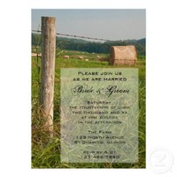 Green Pastures Country Wedding Invitation from Zazzle.com
