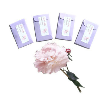 Peony Plum Blossom Scented Drawer Sachets - Candle Fragrance Packets - Wedding DIY Floral Favors - Purple Pink Minimalist - Gift For Her