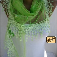 Lace scarf ,women scarves - guipure -gift Ideas For Her Women's Scarves-christmas gift-Fashion accessories