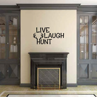 Live Laugh Hunt Vinyl Wall Words Decal Sticker