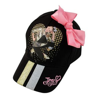 Little Girls' JoJo Siwa Collection, Black Baseball Cap w/Pink Bow, 2-5 Years