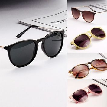 hot sun glasses for men women retro round eyeglasses metal frame leg spectacles 5 colors sunglasses oculos