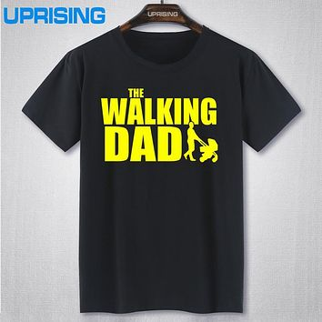 The Walking Dad Fathers Day Gift Men's Funny T-Shirt T Shirt Men New Short Sleeve Cotton Novelty Top Tee Camisetas Hombre