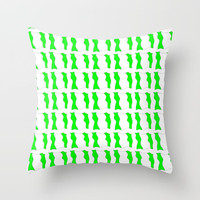 Flag of nigeria -nigeria, nigerian,africa,hausa,igbo,Yoruba,Naira,Lagos,Kano Throw Pillow by oldking