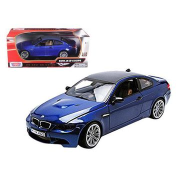 BMW M3 E92 Coupe Blue 1/18 Diecast Car Model by Motormax