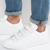 adidas Originals Stan Smith CF Sneakers In White S75188 at asos.com