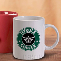 Hyrule Coffee The Legends Of Zelda Design Mug And Cup / Custom Mug / Custom Cup