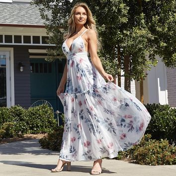 Bloom On Floral Print Maxi Dress