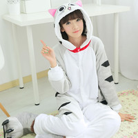 New Unisex Adult Pajamas Anime Cosplay Costume Onesuit Sleepwear Chi's Cheese Cat Pijamas