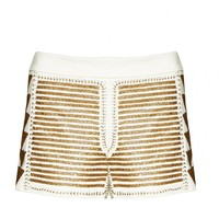 alice + olivia | BEADED BACK ZIP SHORT