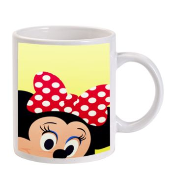 Gift Mugs | Minnie Mouse Face Ceramic Coffee Mugs