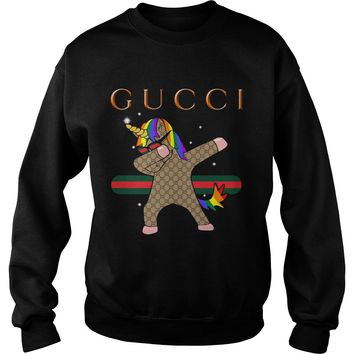 Dabbing Unicorn Gucci shirt Sweat Shirt