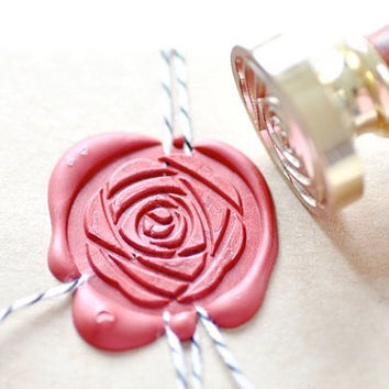 Peony Camellia Flower Floral Gold Plated Wax Seal Stamp x 1
