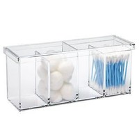 Acrylic 4-Section Box | The Container Store