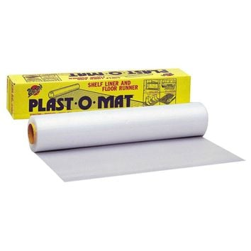 "Warp's® PM-50 Plast-O-Mat® Ribbed Shelf Liner & Floor Runner, 30"" x 50', Clear"