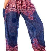 Boho Harem Yoga Pants - Rose Dark Blue