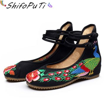 2017 New Fashion Cultural Women Flat Shoes Unique Chinese Traditional...