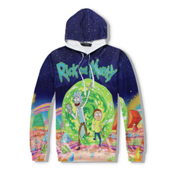 Rick and Morty Portal - full print Hoodie