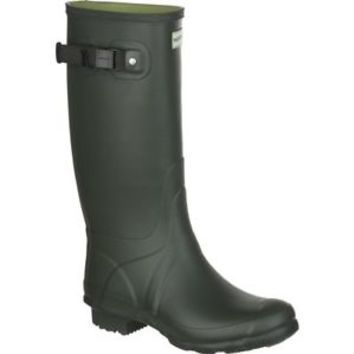 HUNTER HUNTRESS DARK OLIVE TALL EXTENDED CALF WELLINGTON BOOT Wide Welly GREEN