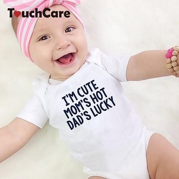 Baby Cotton Romper Newborn Boys Girls Soft Jumpsuit Infant Letter Print Pajamas Toddler Summer Outfit Baby Photography Prop