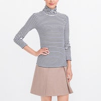 Striped tissue turtleneck