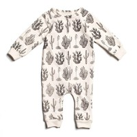 Cactus Black - Organic French Terry Jumpsuit by Winter Water Factory