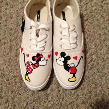 Minnie and Mickey Mouse Handpainted Shoes