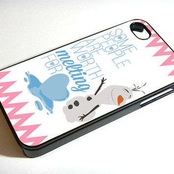 Disney Frozen Olaf Quote - Print on iPhone 4/4s Case - iPhone 5 Case - Samsung Galaxy S3 - Samsung Galaxy S4