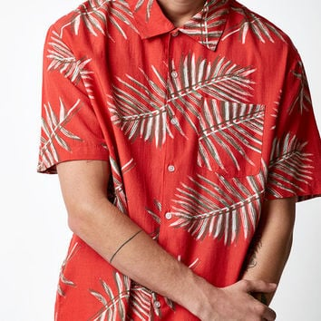 Brixton Lovitz Red Short Sleeve Button Up Camp Shirt at PacSun.com