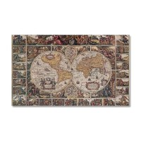 Antique World Map Wall Decal