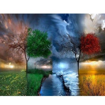 YANXIN DIY Framed Painting By Numbers Oil Paint Photo Wall Art Digital Pictures Painting Decor For Home Decoration Gifts PH9211
