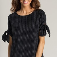 Cecilia Black Polka Dot Blouse