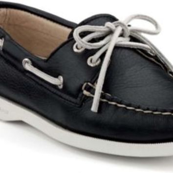 Sperry Top-Sider Cloud logo Authentic Original 2-Eye Boat Shoe BlackSupersoft, Size 9.5M  Women's Shoes
