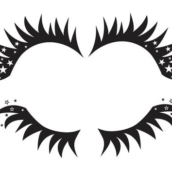 Headlight Eyelash Combo - Top & Bottom - 1 - Vinyl Decal - VEH-ML6-1