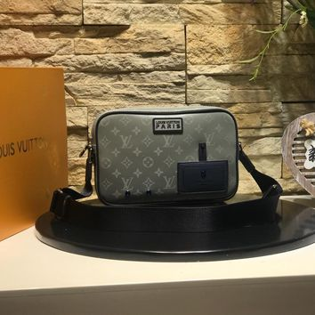 DCCK 1580 Louis Vuitton LV Daark Infinit Messenger Bag Fashion