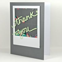 Shake It Up Handmade Confetti Filled Thank You Greeting Card