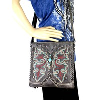 Montana West Cross Body Purse Spiritual Collection with Turquoise Butterfly