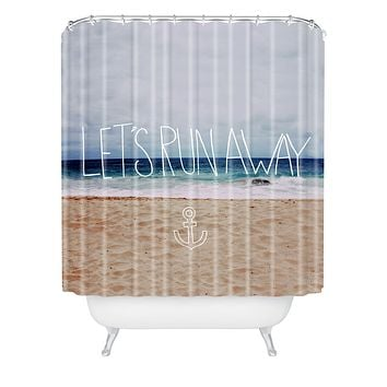 Leah Flores Lets Run Away III Shower Curtain