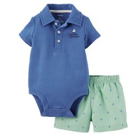 Carter's Nautical Polo Bodysuit & Shorts Set - Baby Boy, Size: