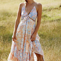 Strappy Lace Patchwork Beach Dress