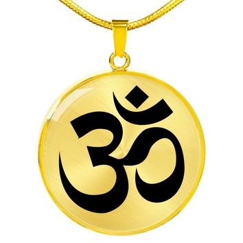 Om Symbol - 18k Gold Finished Luxury Necklace