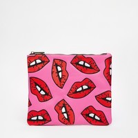 Skinnydip Lips Clutch Bag