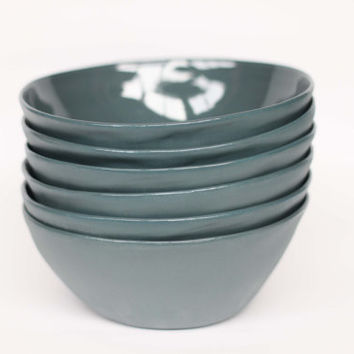 organic breakfast bowl - porcelain (slate colour)