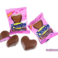 Peeps Milk Chocolate Covered Marshmallow Hearts: 24-Piece Box