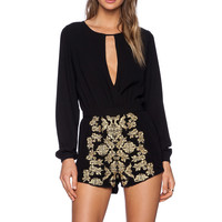 Lovers + Friends Jezebel Romper in Black