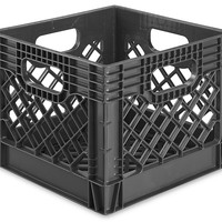 "Rigid Milk Crates - 12 x 12 x 10 1/2"", Black S-16317BL - Uline"
