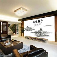 New Chinese ink painting the sitting room the bedroom home decoration wall stickers on the wall SM6