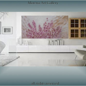 Cherry blossoms - landscape -  oil on canvas -
